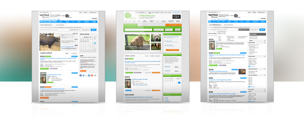 VetMed Resource Wireframes